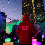 EF sweatshirt at HUBweek
