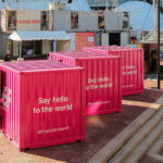 Photo of EF containers at HUBweek
