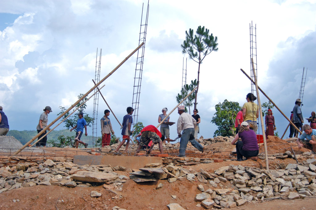 Rebuilding a primary school in Nepal with Edge of Seven